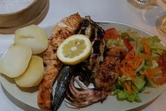 Fischplatte in Lissabon