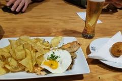 Portugiesisches Essen - Lachs mit Ei