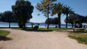 Ausblick von der Altstadt aufs Meer in Zadar