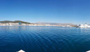 Ausblick auf Split vom Meer