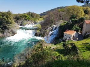 "Der Wasserfall ""Skradinski buk"" in Krka"