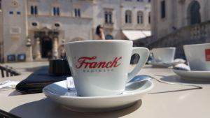 Espresso in Dubrobnik an der Stradun