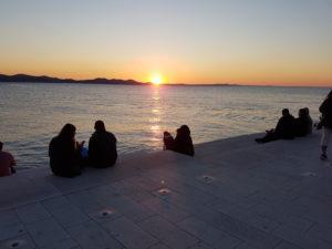 Sonnenuntergang an der Meeresorgel von zadar