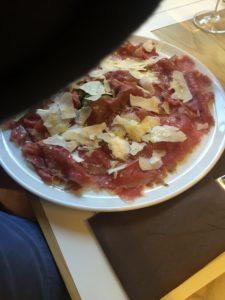 Essen in Palermo: Carpaccio