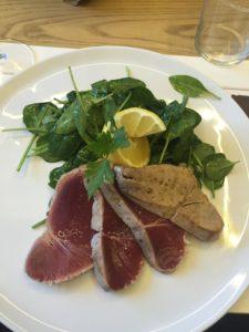 Essen in Palermo: Tunfischfilet