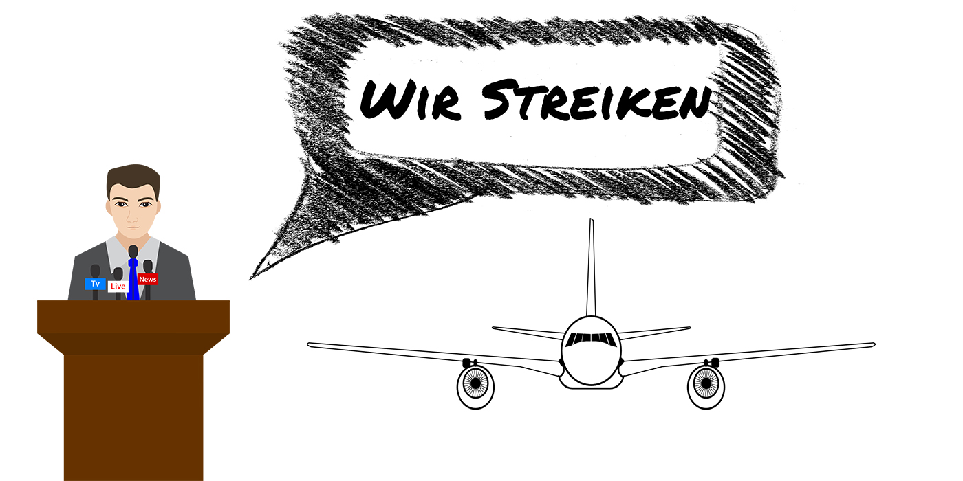 Schadensersatz Anspruch bei Streik: Flugausfall oder Flugverspätung durch Streik