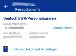 Reisedokumente in der Ryanair App