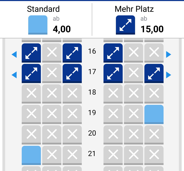 Sitzplan ryanair flugzeuge Die besten